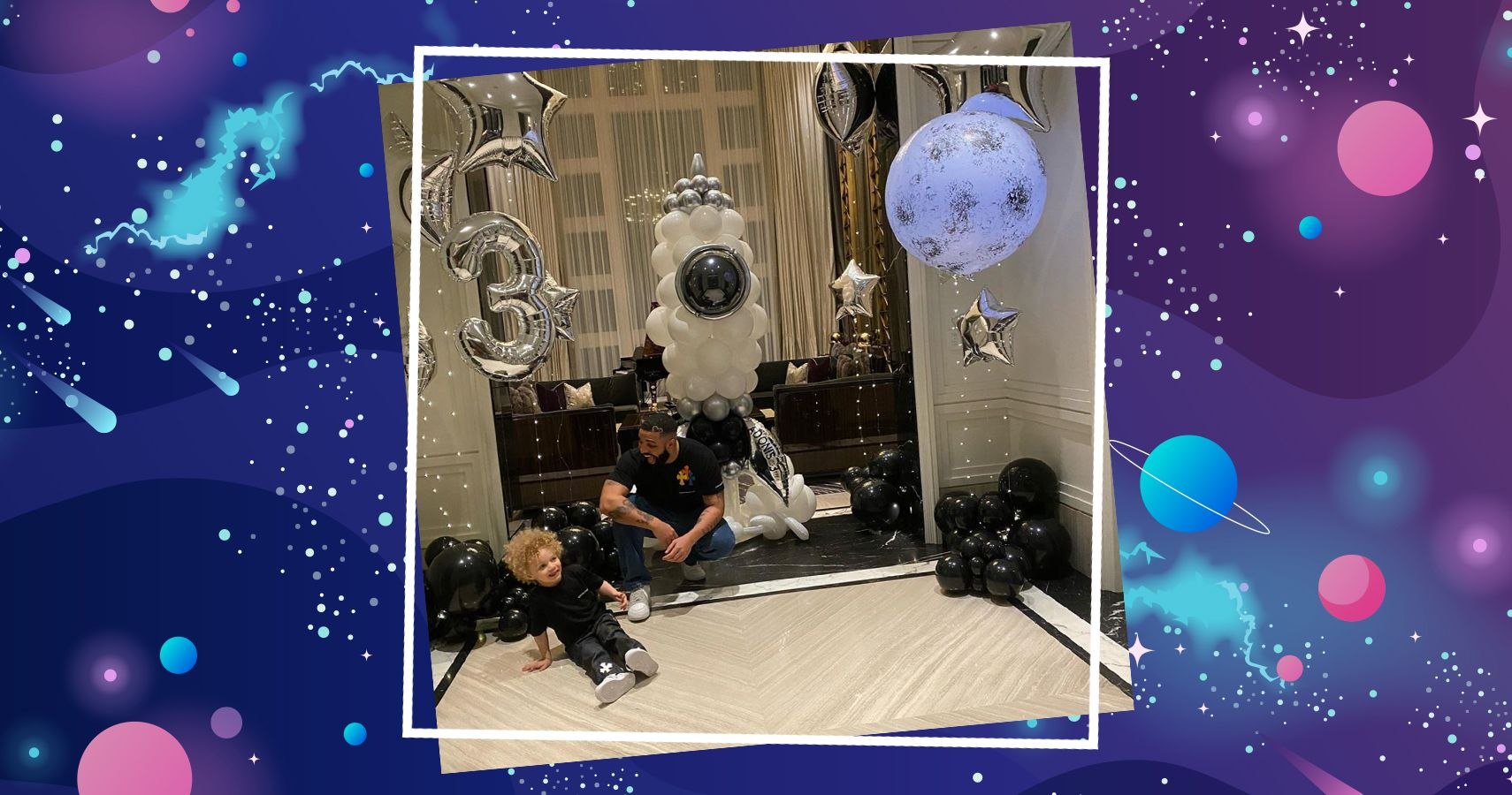 Drake Celebrates Son's Third Birthday With Space-Themed Party