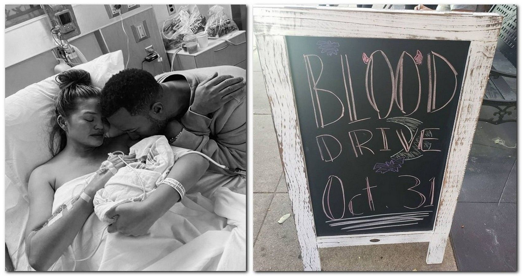 Chrissy Teigen Responds After Friends Donate Blood In Her & Late Son's Honor